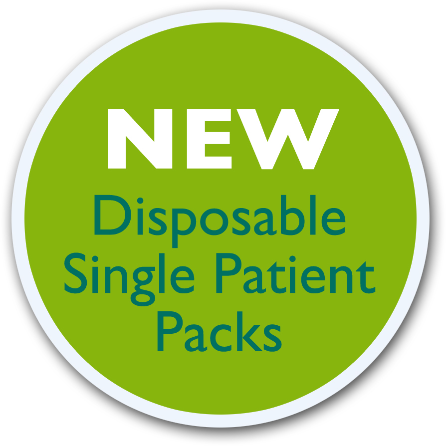 New Disposable Single Patient Pack Badge